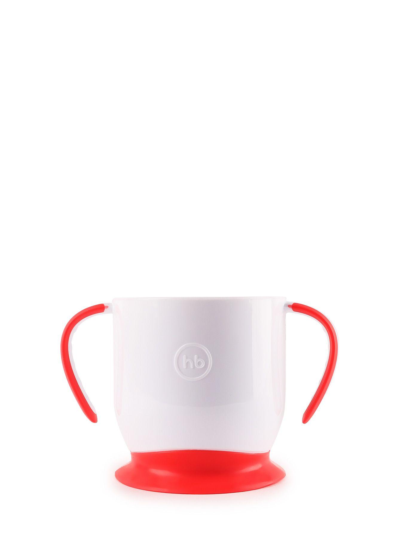 кружка на присоске happy baby baby cup with suction base 15022 red Кружка Happy Baby 15022, красный