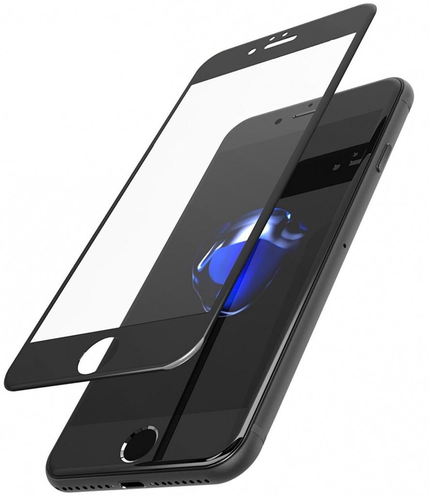 Защитное стекло AHORA для Apple IPhone 7, 8 (Айфон 8) на весь экран (Full Cover) арт.G7-03B-O, прозрачный, черный