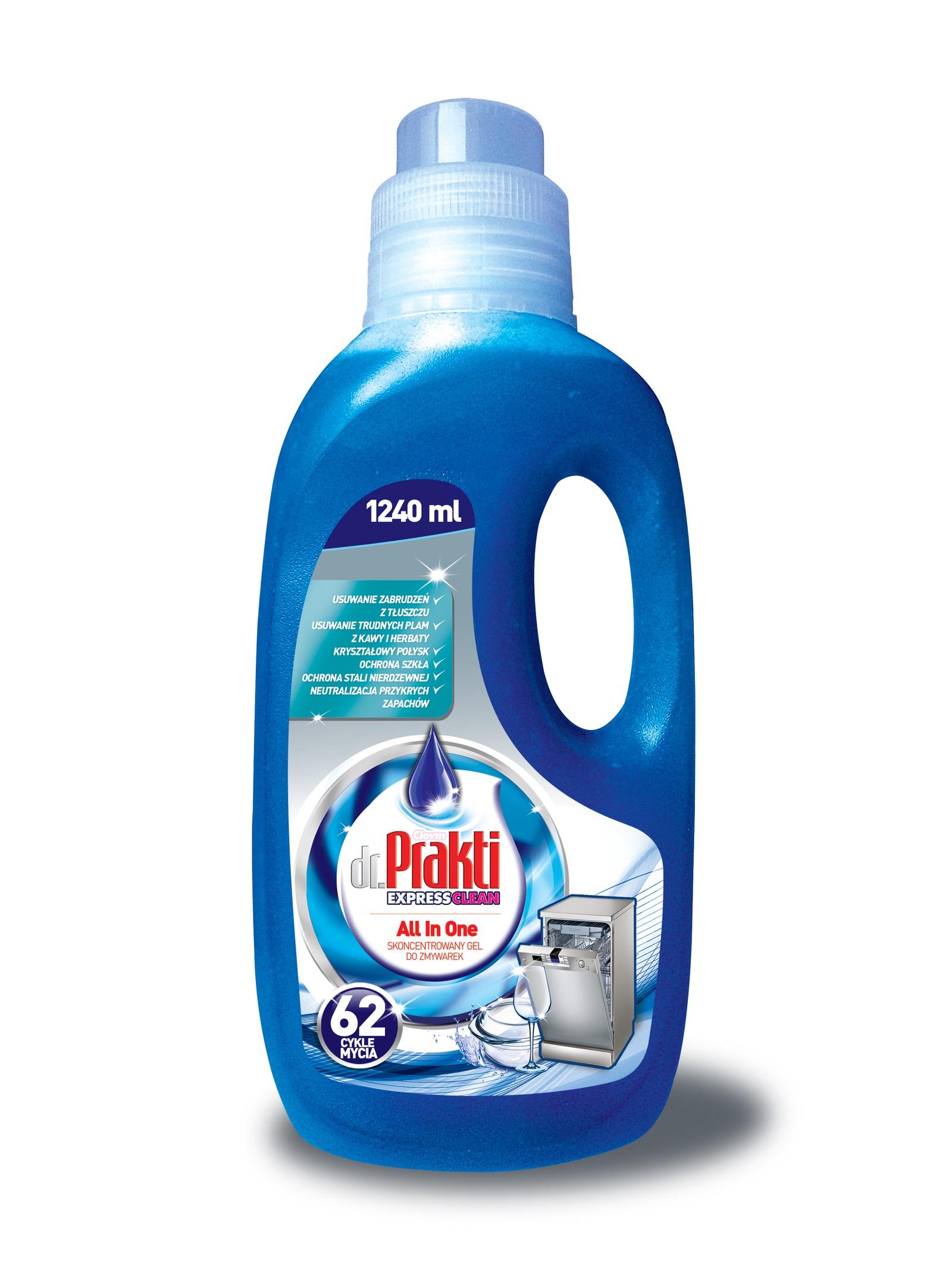 Средство для мытья посуды Clovin для посудомоечных машин, 1240 мл освежитель для посудомоечных машин frisch aktiv запах морской лимонный 2 шт