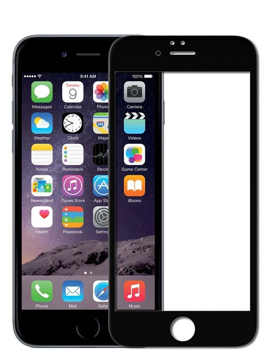 Защитное стекло AHORA для Apple IPhone 6 Plus, 6s Plus (Айфон Плюс, Плюс) на весь экран (Full Cover) арт.G6P-03B-O, прозрачный, черный