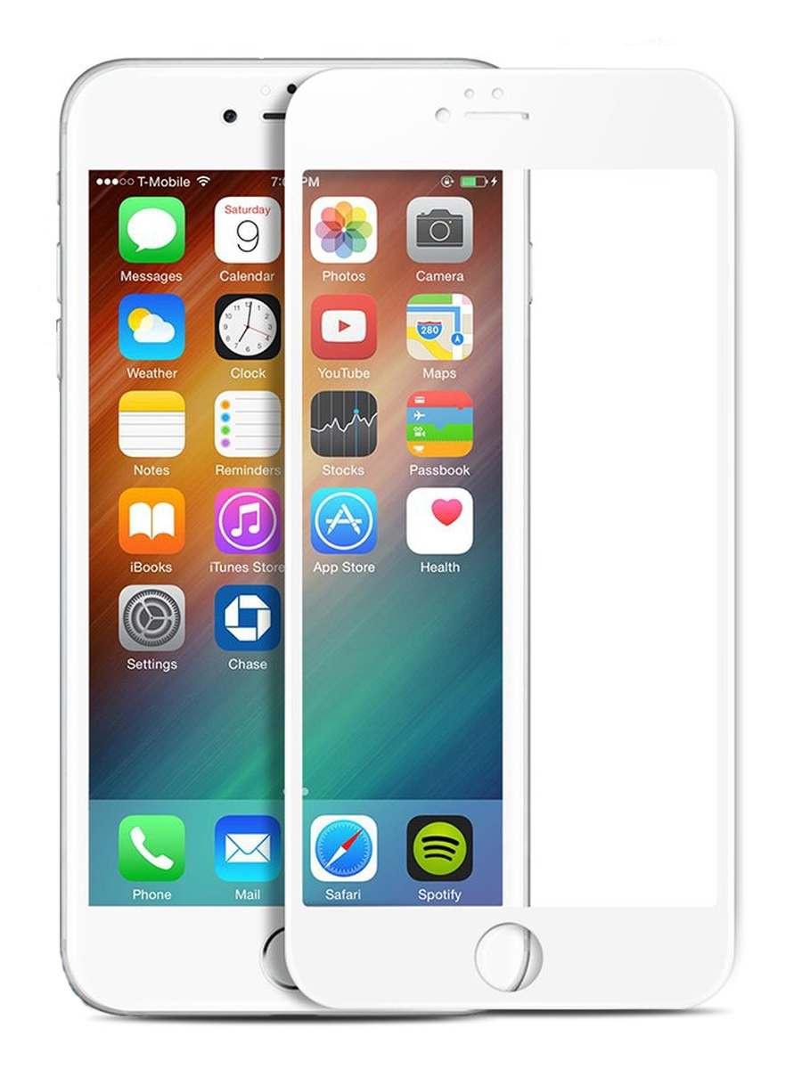 Защитное стекло AHORA для Apple IPhone 6 Plus, 6s Plus (Айфон 6 Плюс, 6s Плюс) на весь экран (Full Cover) арт.G6P-03W-O, белый, прозрачный
