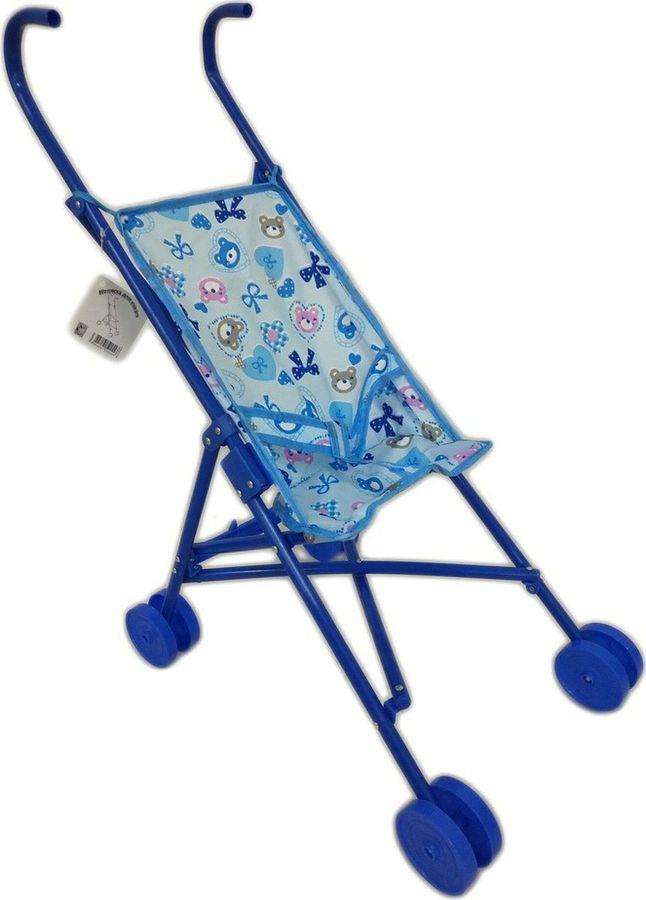 Аксессуар для кукол 1TOY Коляска-трость, Т52255, голубой, 47,5х25х55см