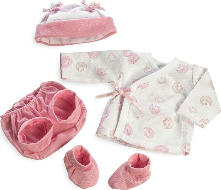 Аксессуар для кукол Arias Elegance Набор одежды, шапочка, штанишки, пинетки, кофточка, Т13745 комплект одежды для девочки котмаркот кофточка штанишки цвет розовый 2802 размер 56