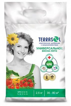 Удобрение сухое Террасол минеральное Весна-Лето тукосмесь с микроэлементами 2,5 кг цена