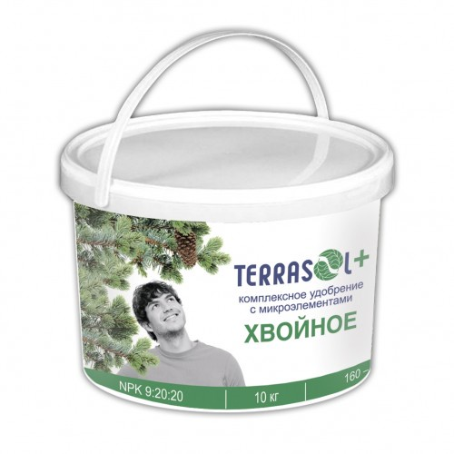 Удобрение сухое Террасол минеральное Хвойное тукосмесь с микроэлементами ведро 10 кг бор для растений