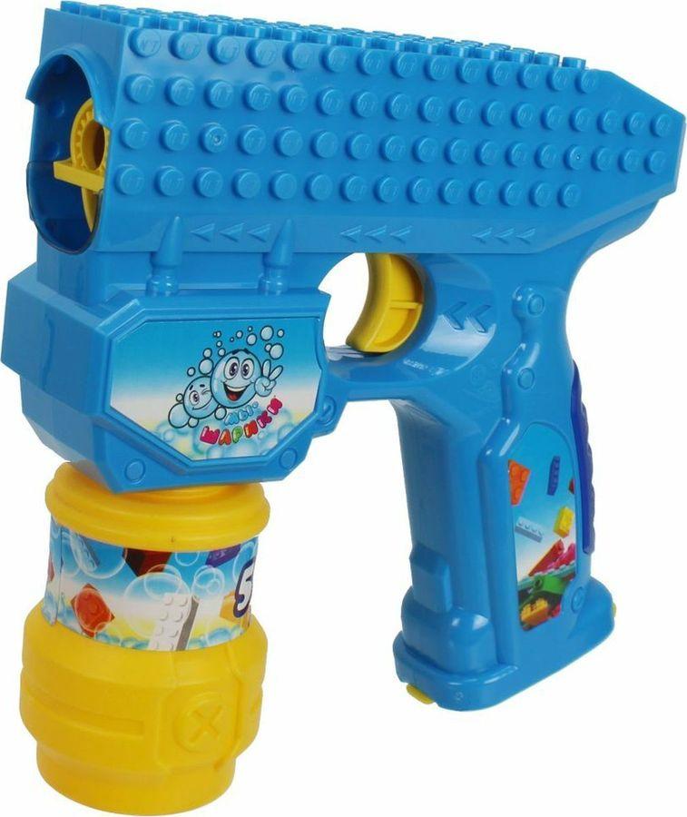 Машина для мыльных пузырей 1TOY Мы-шарики! Пистолет, Т15065 1toy мы шарики мыл пуз в виде оружия в ассорт меч сай 70мл катана 80мл шест бо 80мл нунчаки 60мл на карте
