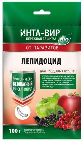 Инсектицид БИО Лепидоцид Инта-Вир, 100г , для плодовых культур, против гусениц и насекомых