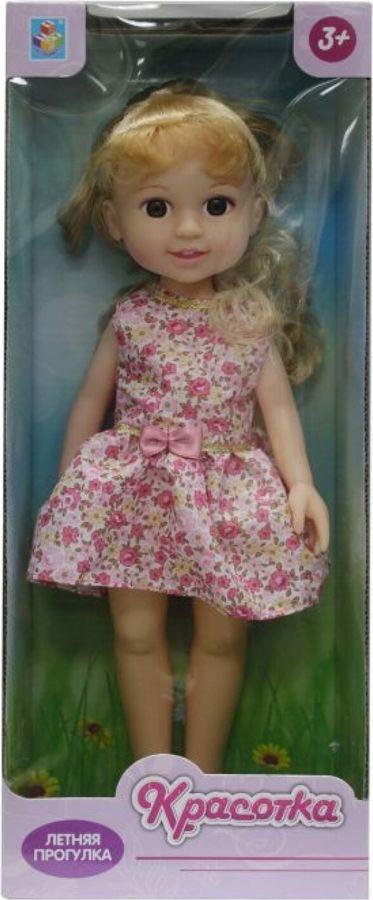 Кукла 1TOY Красотка Летняя прогулка, Т10277, розовый, 36 см
