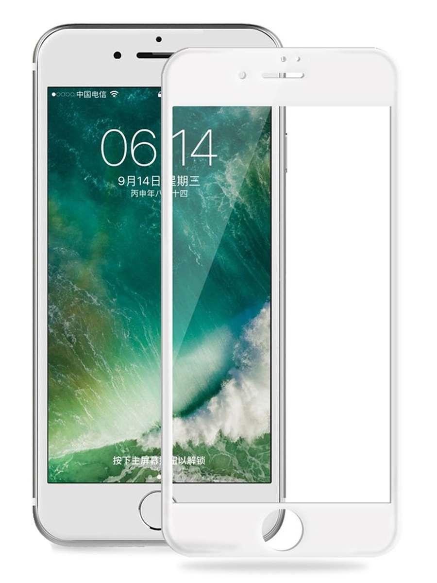 Защитное стекло AHORA для Apple IPhone 7 Plus, 8 Plus (Айфон Плюс, Плюс) на весь экран (Full Cover) арт.G7P-03W-O, белый, прозрачный