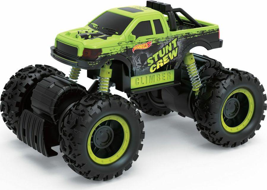 Машинка 1TOY Hot Wheels Монстр-трак фрикционный, масштаб 1:16, с аммортизаторами, Т14093, зеленый hot wheels мотоцикл с гонщиком цвет черный зеленый