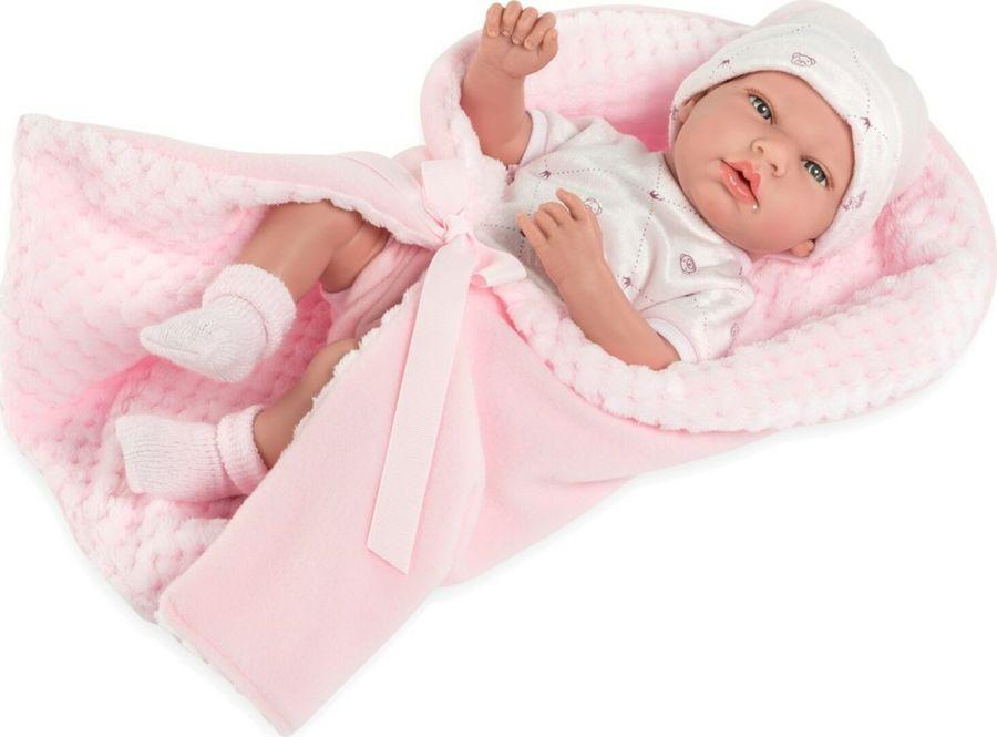 Пупс Arias Elegance, в одежде, с одеялком и соской, Т13728, 38 см цена в Москве и Питере