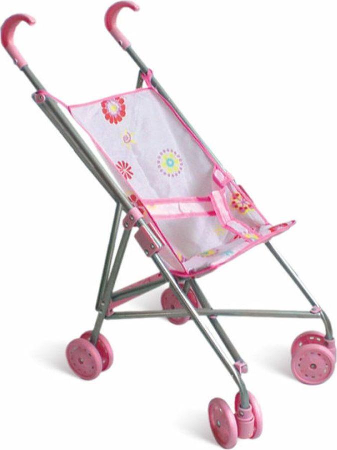 Аксессуар для кукол 1TOY Коляска-трость, Т52257, розовый, 39,5х27,5х55см