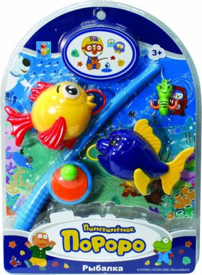 Игровой набор 1TOY Пингвиненок Пороро Рыбалка, Т59703 набор насекомых игрушечных 1toy т50523