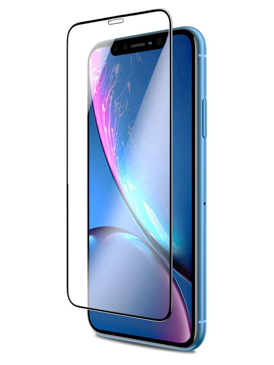 Защитное стекло AHORA для Apple IPhone Xr (Айфон 10R) на весь экран (Full Cover) арт.GXR-03B-O, прозрачный, черный