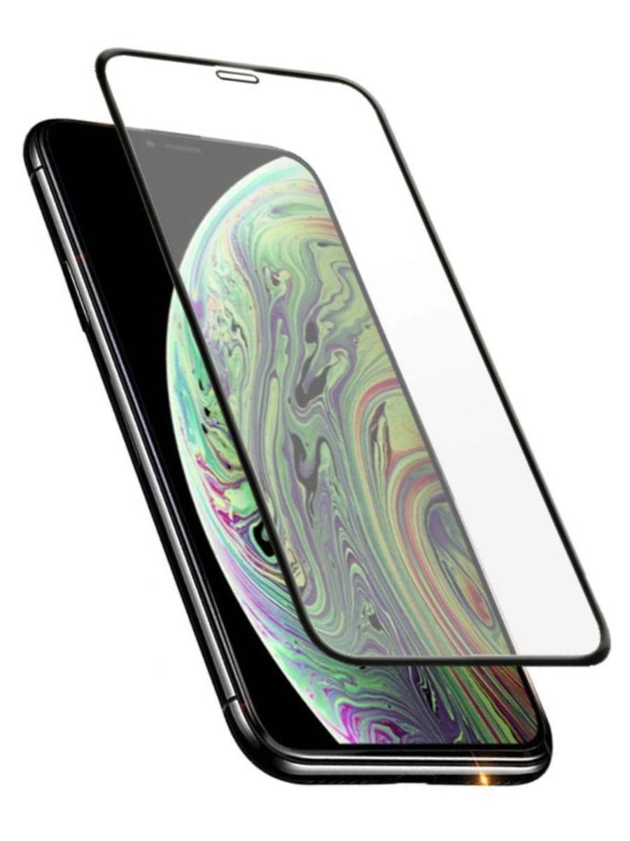 Защитное стекло AHORA для Apple IPhone Xs Max (Айфон 10s Макс) на весь экран (Full Cover) арт.GXSM-03B-O, прозрачный, черный