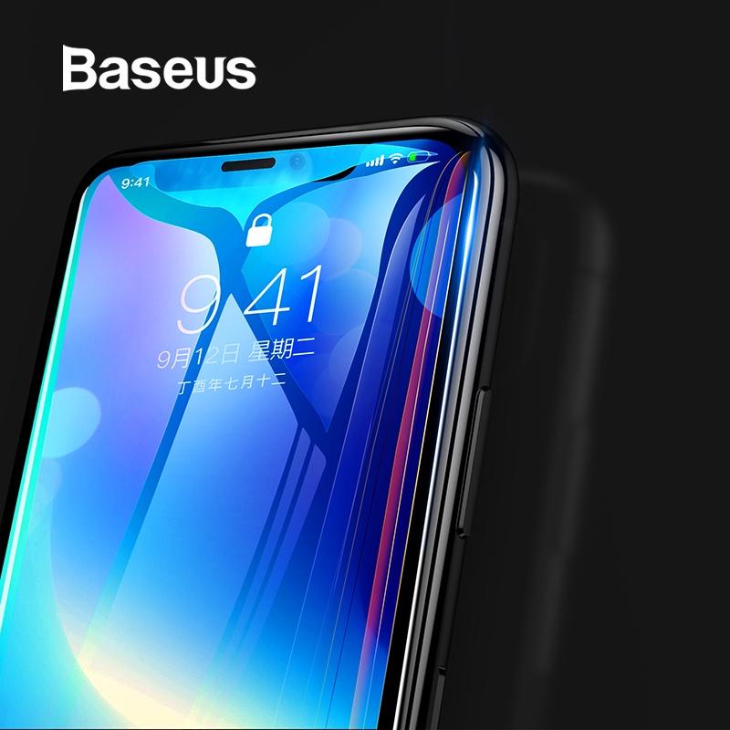 Защитное стекло Baseus 7D для экрана для iPhone X, прозрачный аксессуар защитная пленка protect для apple iphone x front