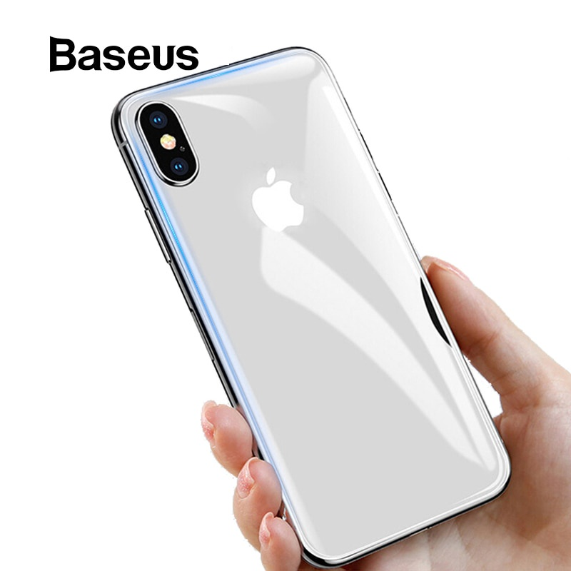 Защитное стекло Baseus заднее для iPhone Xs Max, прозрачный аксессуар защитная пленка iphone xs max red line задняя часть ут000016929