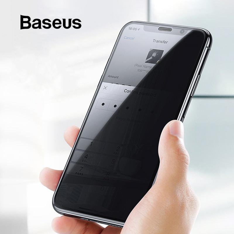 Защитное стекло Baseus с антибликовым покрытием для iPhone XR Xs Max, прозрачный аксессуар защитная пленка protect для apple iphone x front
