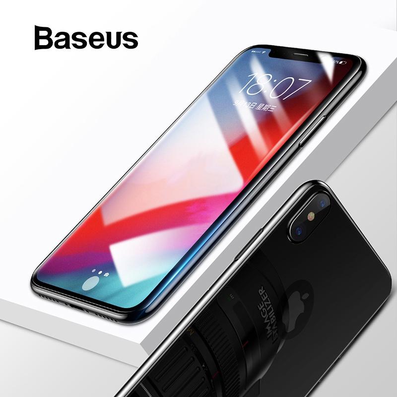 Защитное стекло Baseus для iPhone Xs Xs Max XR, прозрачный аксессуар защитная пленка ainy для apple iphone x передняя задняя глянцевая
