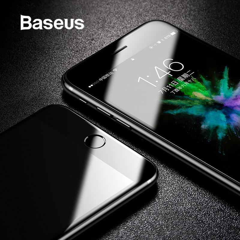Защитное стекло Baseus закаленное стекло для iPhone 8 8 Plus, прозрачный пленка защитная lamel гибридное стекло diamond hybridglass ea kit iphone 7 plus
