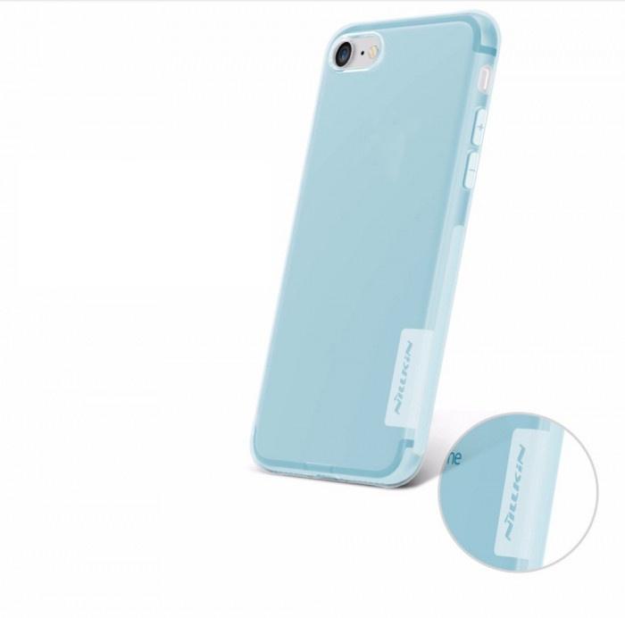 Чехол для Apple iPhone X Накладка Nature TPU Apple iPhone X/XS Blue цена и фото