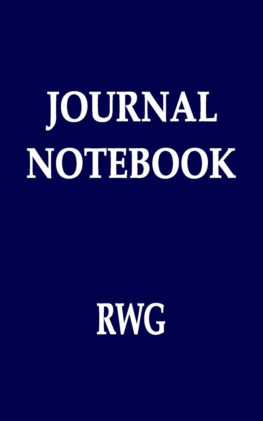 "RWG. Journal Notebook. 50 pagine 5 ""X 8"" College foderato carta"