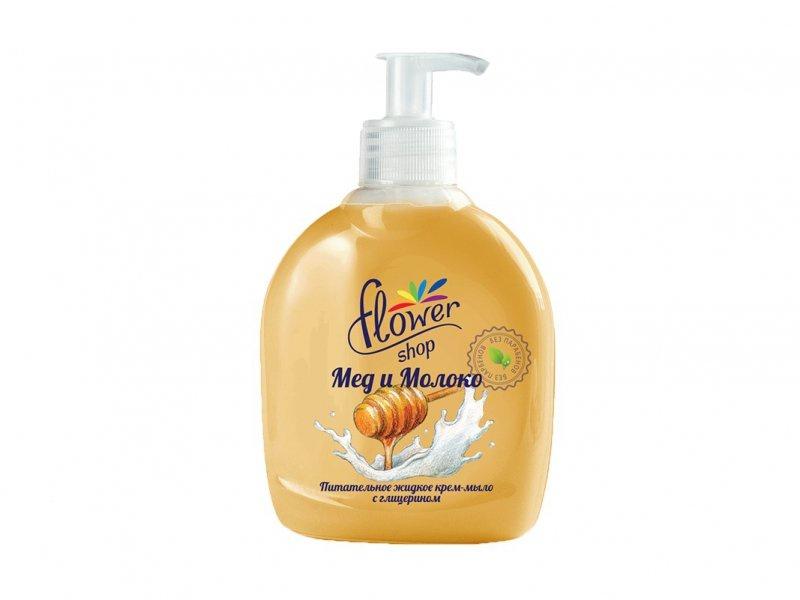 Жидкое мыло Flower Shop Молоко и Мед джонсонс беби мыло мед 100г