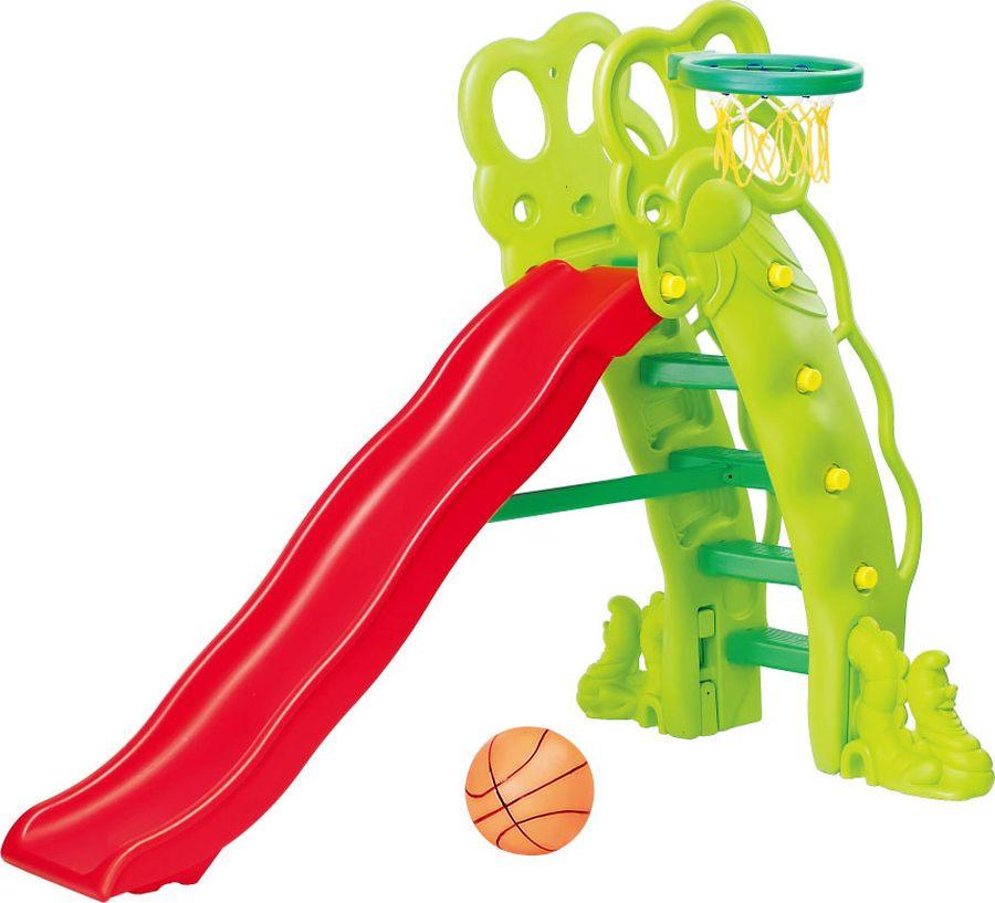 Детская горка Ching-Ching Каскад, с баскетбольным кольцом, 11-SL, 88 х 111 х 160 см горка ching ching каскад с баскетбольным кольцом 200 100 180 см sl 11