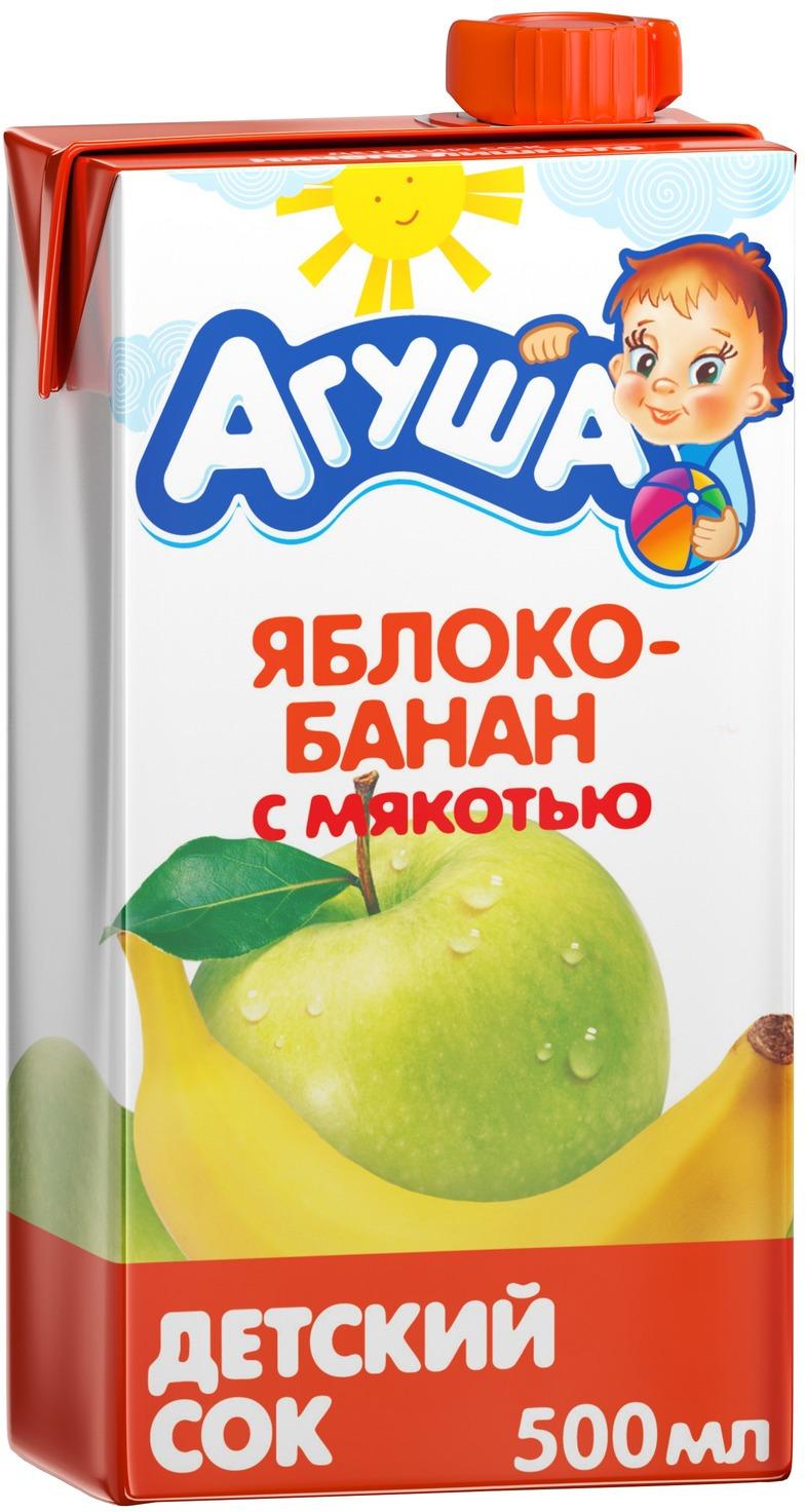 """Сок Агуша """"Яблоко-Банан"""", с 3 лет, 500 мл"""