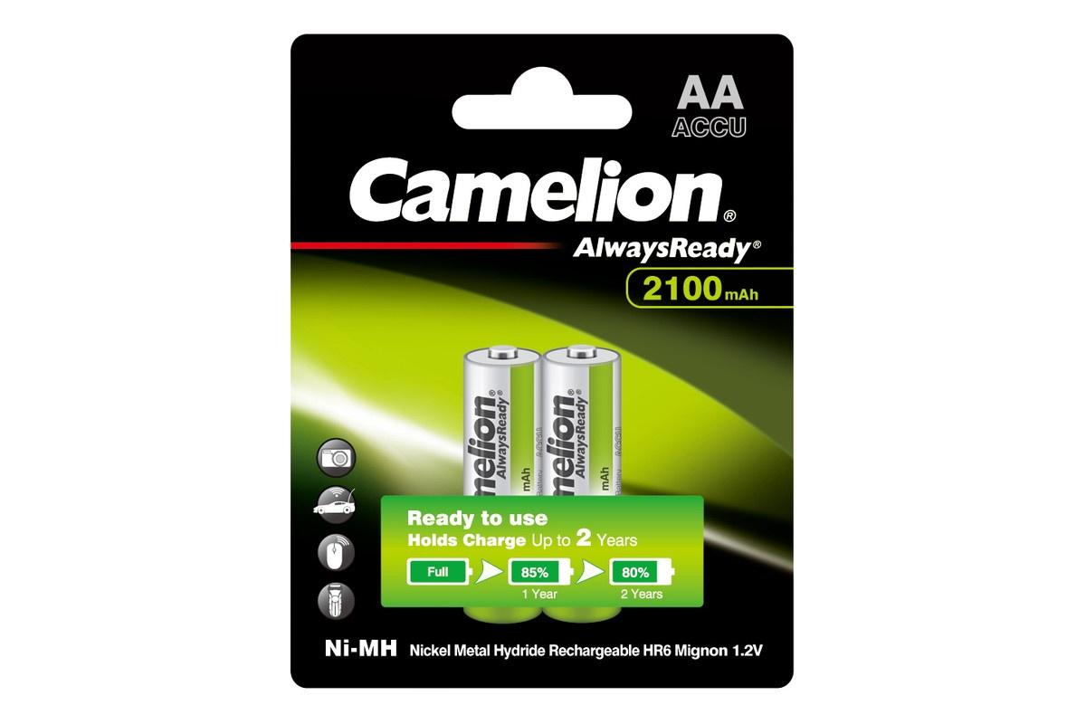 Аккумуляторная батарейка Camelion AA- 2100mAh Ni-Mh Always Ready