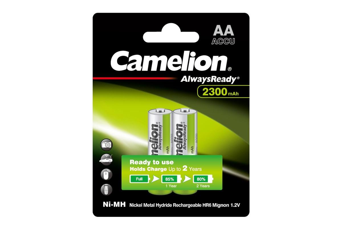 Аккумуляторная батарейка Camelion AA-2300mAh Ni-Mh Always Ready