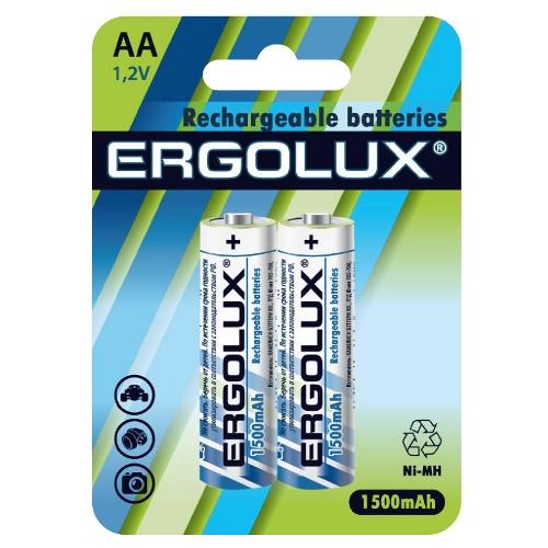 Аккумуляторная батарейка Ergolux AA-1500mAh батарейка аккумуляторная ergolux nimh тип аа 1500 mah