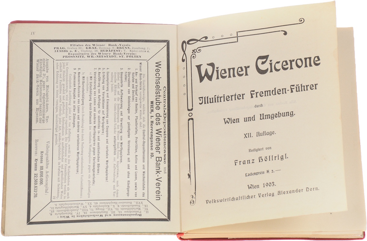 Wiener Cicerone. Illustrierter Fremden-Fuehrer durch Wien und Umgebung illustrierter fuehrer durch strassburg i e und umgebung