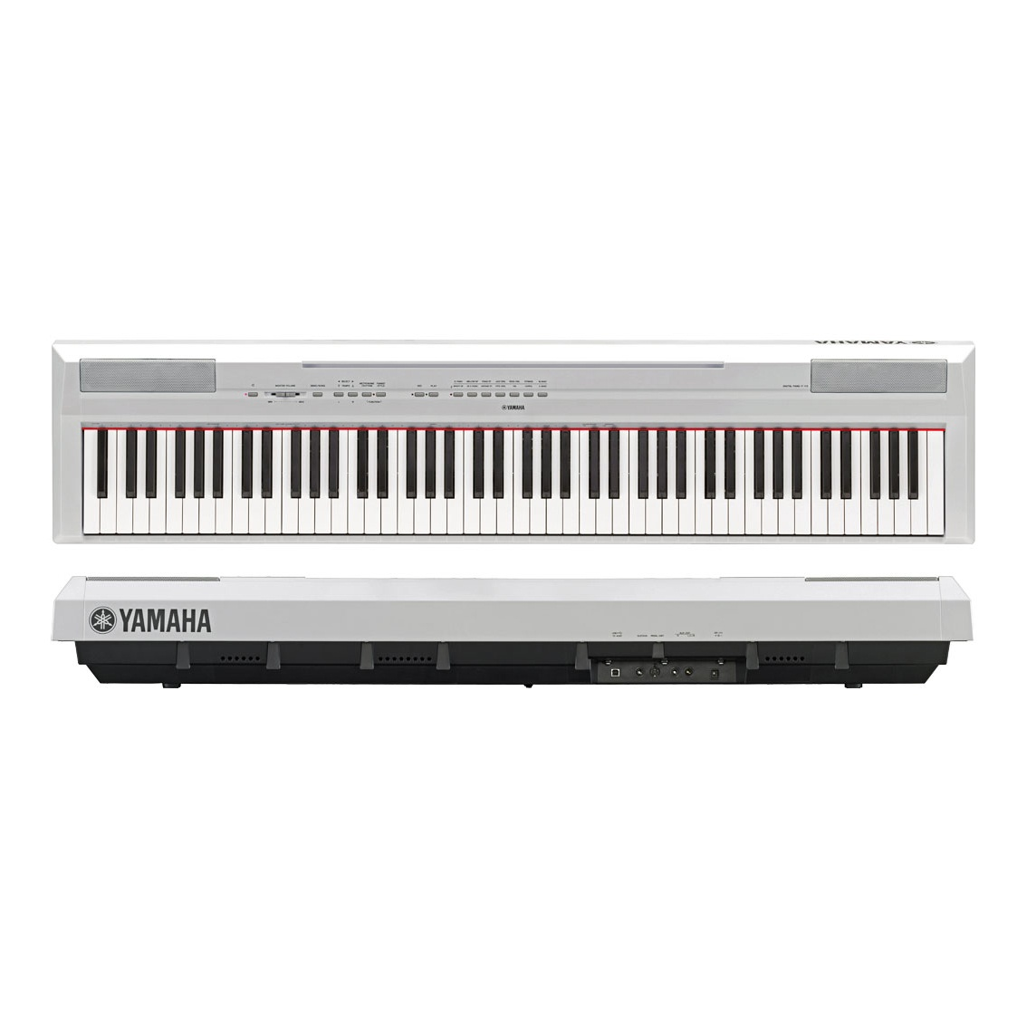цена на Цифровое фортепиано Yamaha P-125WH, белый