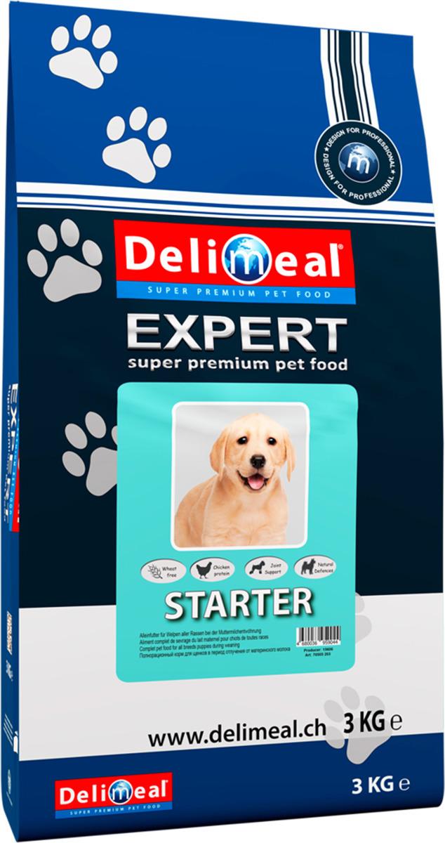 Корм сухой Delimeal Expert All Breed Starter, для щенков всех пород в период отлучения от материнского молока, 3 кг крупы для кормления щенка