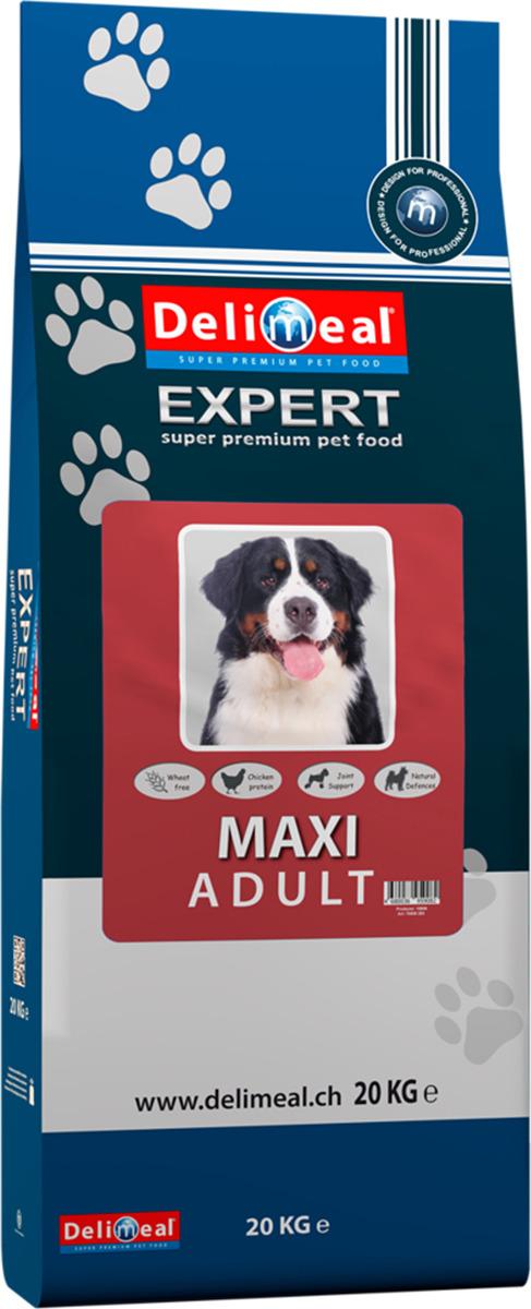 Корм сухой Delimeal Expert Maxi Adult, с мясом птицы, для взрослых собак крупных пород, 20 кг сухой корм pronature 26 для собак крупных пород цыплёнок 20 кг