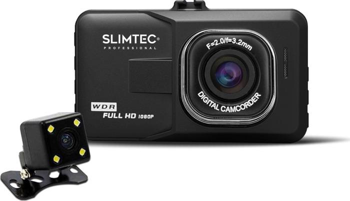 Видеорегистратор Slimtec Dual F2, черный видеорегистратор зеркало slimtec dual m7