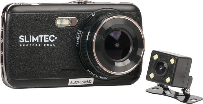 Видеорегистратор Slimtec Dual S2 Mega Pack, черный видеорегистратор зеркало slimtec dual m7