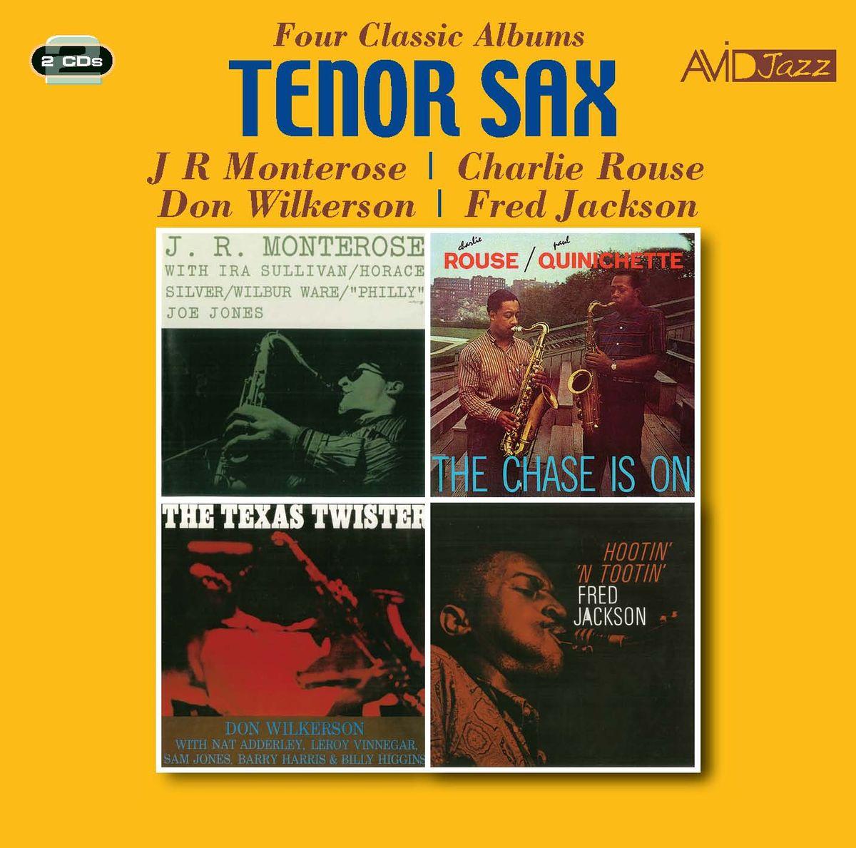 цена на J. R. Monterose, Charlie Rouse, Don Wilkerson, Fred Jackson. Tenor Sax - Four Classic Albums (2 CD)