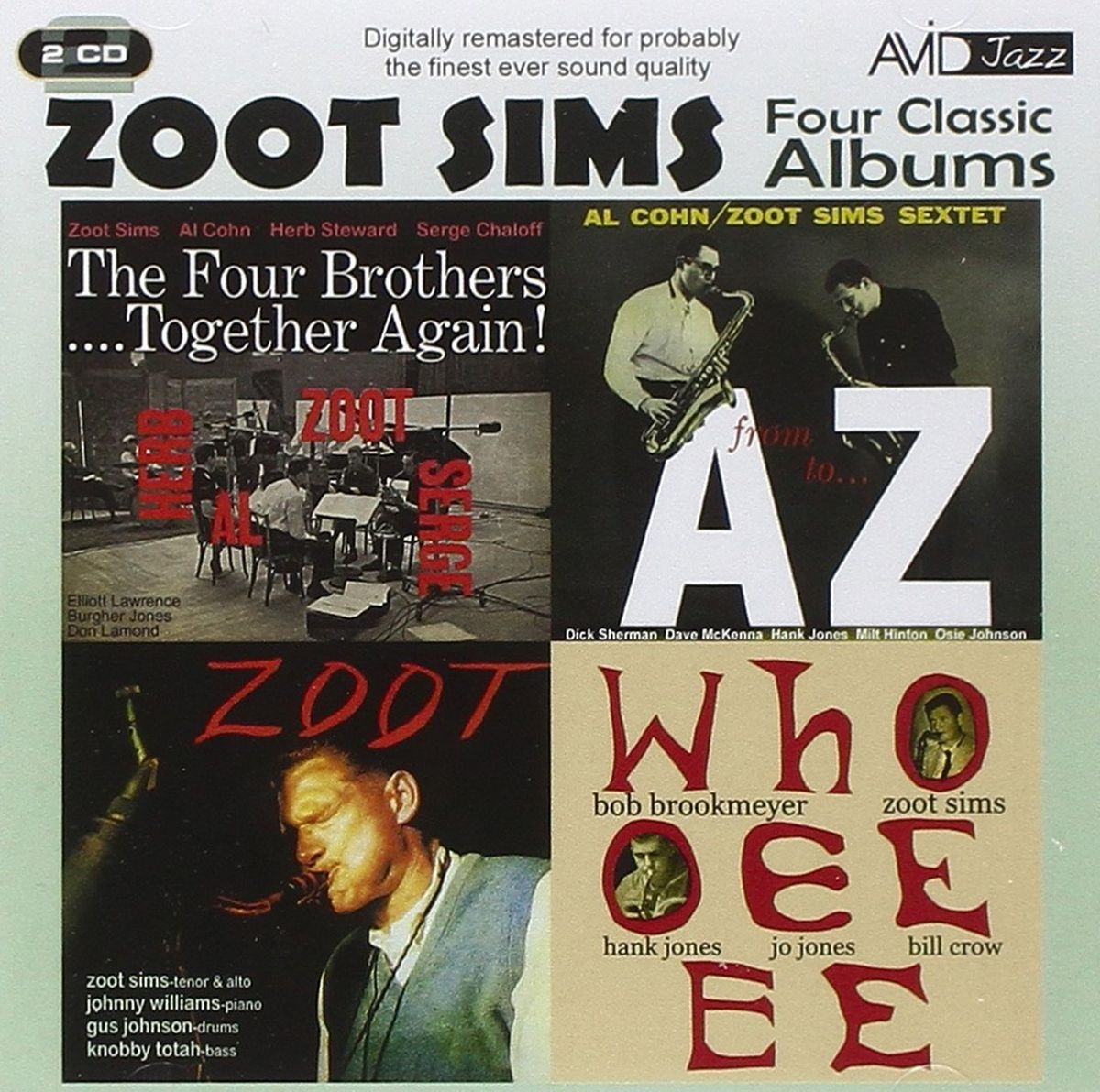 Zoot Sims. Sims - Four Classic Albums (2 CD)