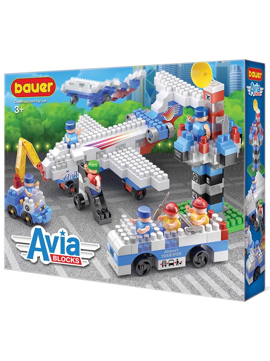 Пластиковый конструктор BAUER Конструктор Бауер AVIA набор пассажирский лайнер, автобус, сервисный автомобиль и КДП конструктор bauer серии avia 260 элементов 247