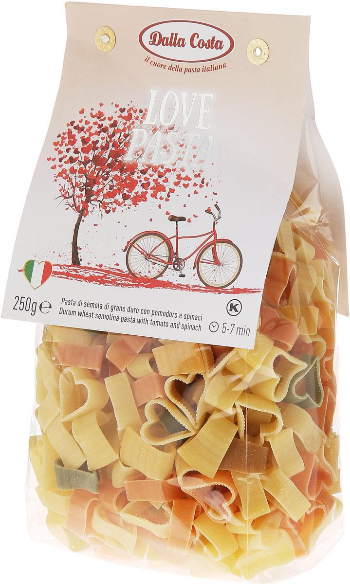 Dalla Costa паста без яиц Любовь со шпинатом и томатами, 250 г