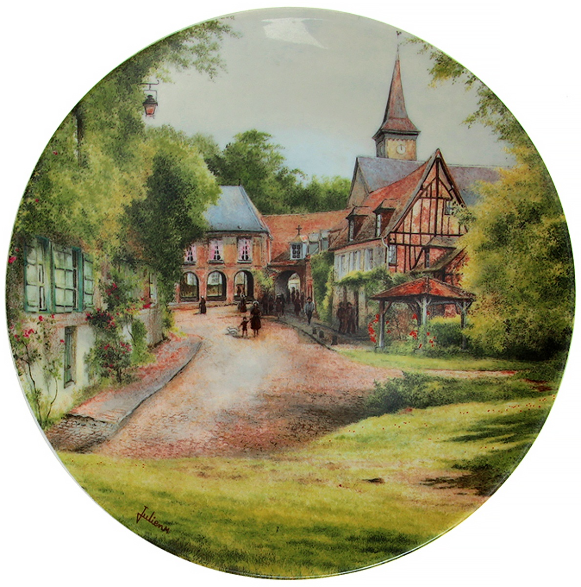 Декоративная тарелка Limoges Мишель Жюльен