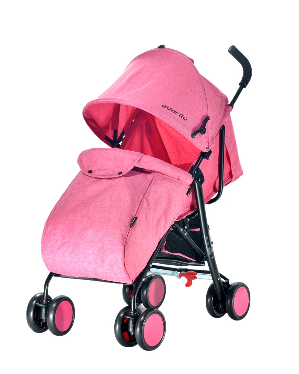 Коляска прогулочная Everflo Voyage pink E-850A розовый коляска трость everflo voyage e 850a blue