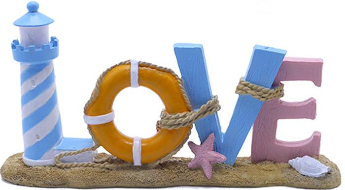 Декорация для аквариума Meijing Aquarium Love, AD047, голубой, 23 х 5,5 11,5 см