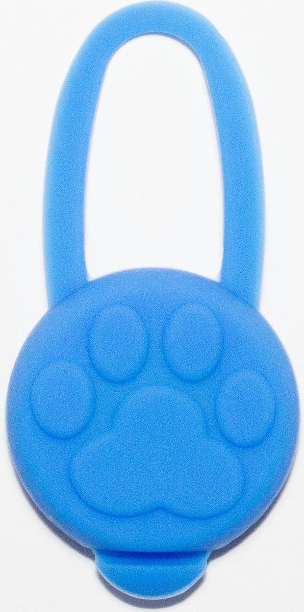 Брелок-подвеска на ошейник для собак Meijing Aquarium Лапка, светящийся, JPL-076B, голубой