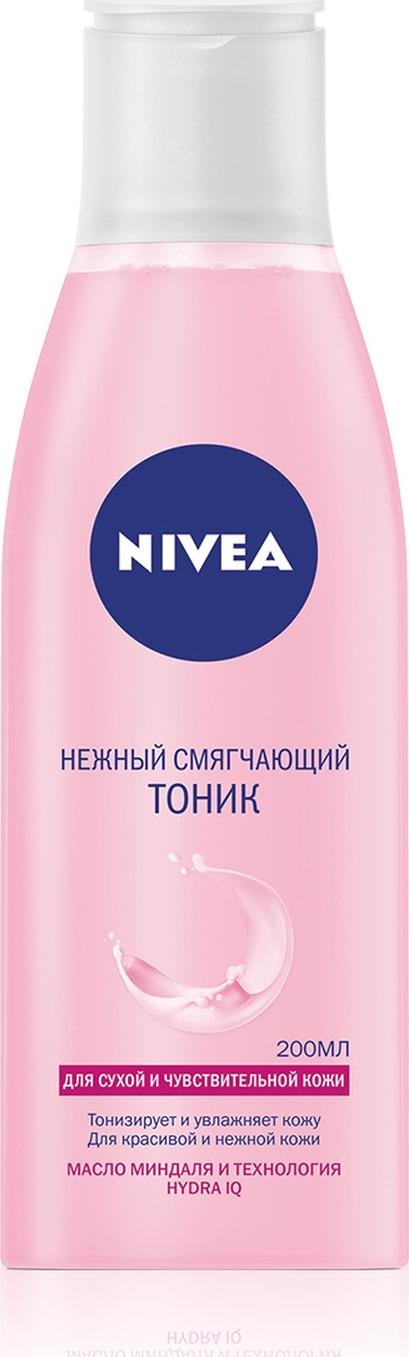 Нежный смягчающий тоник Nivea, для сухой и чувствительной кожи, 200 мл lumene смягчающий тоник 200 мл
