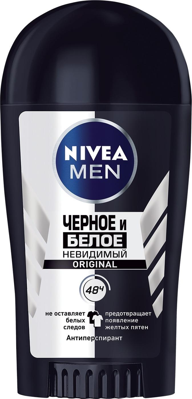 Антиперспирант стик Nivea Невидимый для черного и белого, 40 мл nivea антиперспирант спрей невидимый для черного и белого fresh