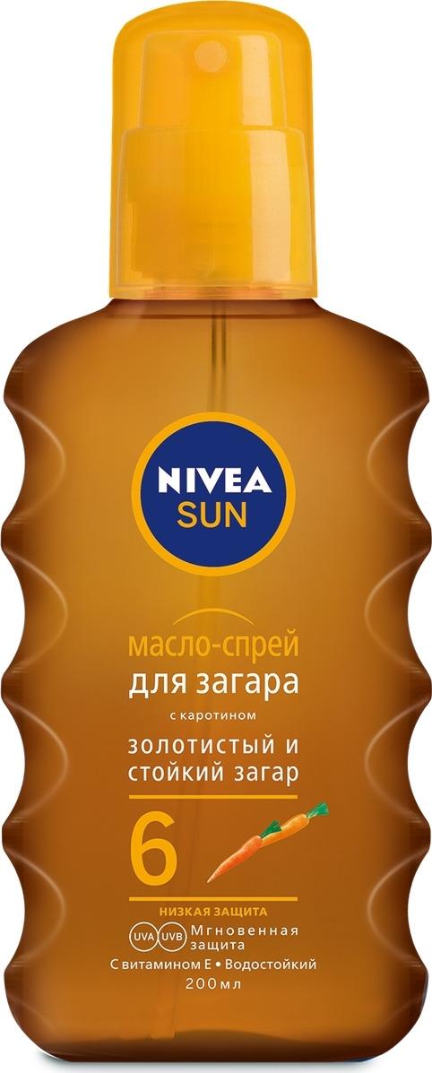 Масло-спрей для загара Nivea, СЗФ 6, 200 мл