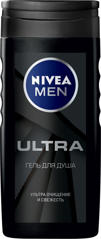 Гель для душа Nivea ULTRA, 250 мл гель для душа для чувствительн nivea гель для душа для чувствительн
